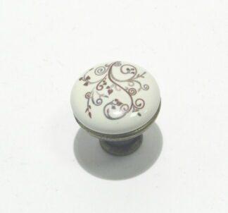 Ручка мебельная кнопка BR 33430 кнопка коричн...