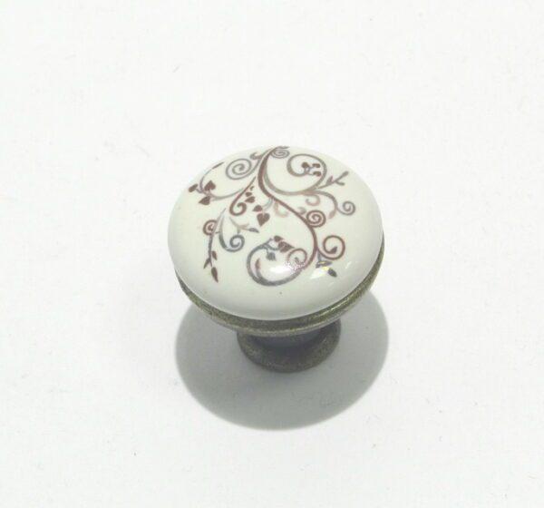 Ручка кнопка BR 33430 кнопка коричневый орнамент