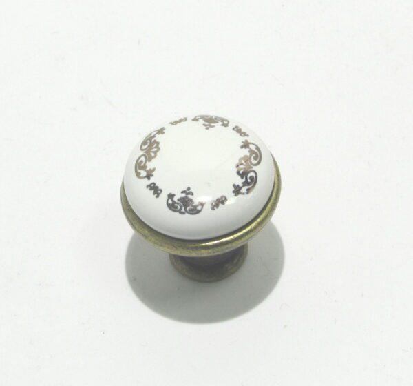 Ручка кнопка BR 33426 кнопка золотой орнамент