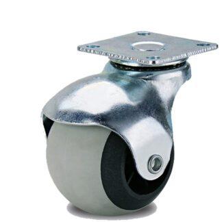 Колесо шар на термопластичной серой резине